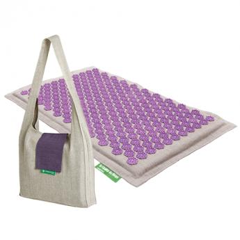 Matte: Natur-Violett + Tasche Natur-Lila