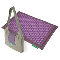 Matte: Lila-Violett + Tasche Natur-Lila